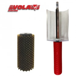 Pack: Brosse rotative Bronze + Axe 140 mm, VOLA