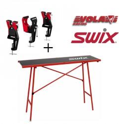 Établi de fartage SWIX + Etaux VOLA Racing