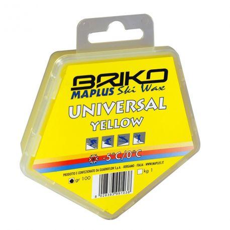 Cera Esquí Snowboard BRIKO-Maplus amarilla 100 g
