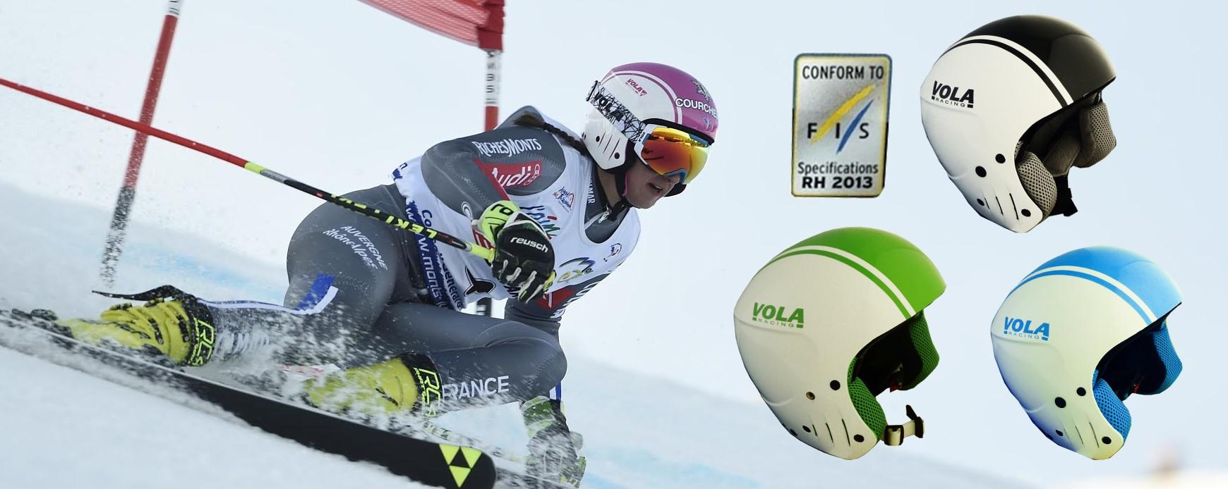 Helmets for ski racing with FIS homologation.