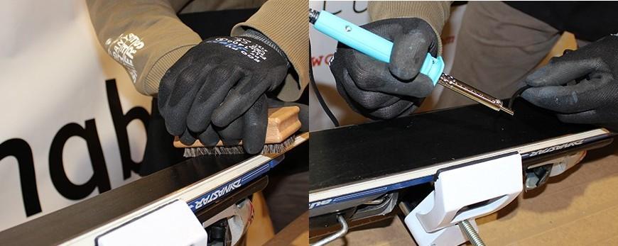 Productes per a la reparació de la sola dels esquís i snowboards